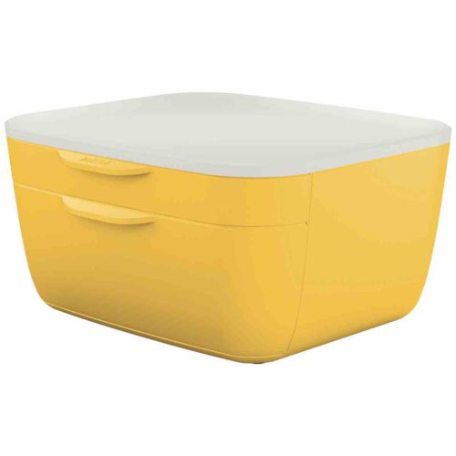 Leitz Cosy Drawer Cabinet 2 drawers (1 small and 1 large). Warm Yellow