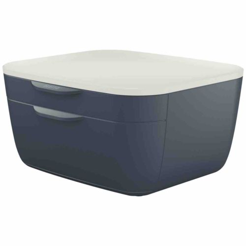 Leitz Cosy Drawer Cabinet 2 drawers (1 small and 1 large). Velvet Grey