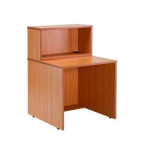 Reception 800 Modular Straight Hutch Unit Beech