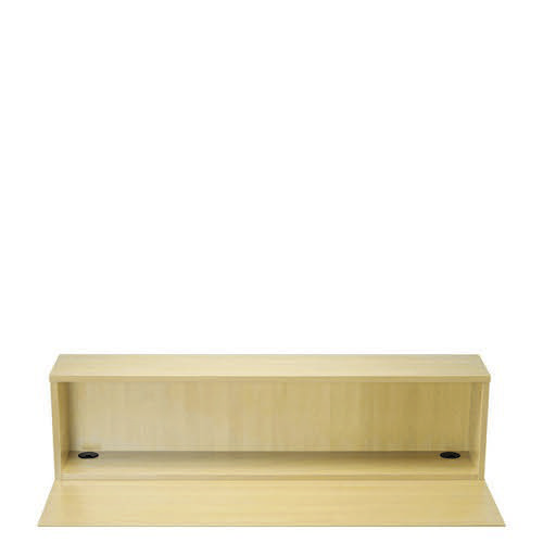 Reception 1600 Modular Straight Hutch Unit Maple