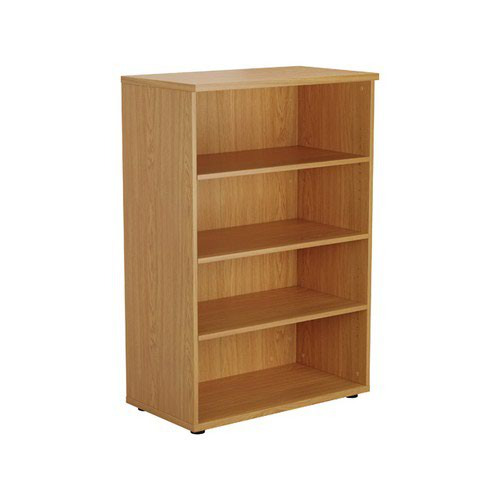 Jemini Oak 1200mm 1 Shelf Bookcase KF840134