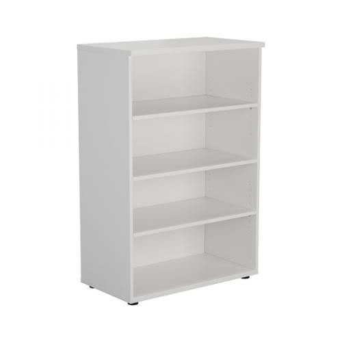 Jemini White 1200mm 1 Shelf Bookcase KF840136