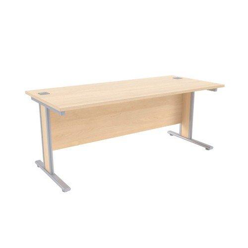 Jemini Maple/Silver 1800x800mm Rectangular Desk KF839769