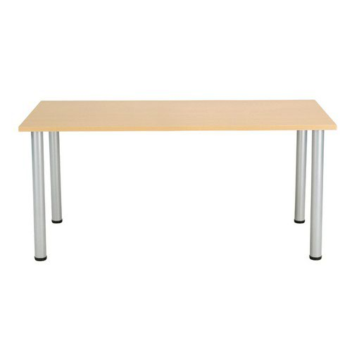 Jemini Oak 1200x800mm Rectangular Meeting Table KF840175