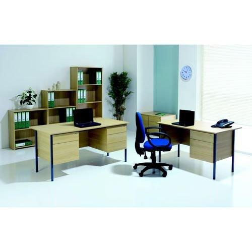 Jemini Bavarian Beech 1500mm Four Leg Desk with Double Pedestal KF838379