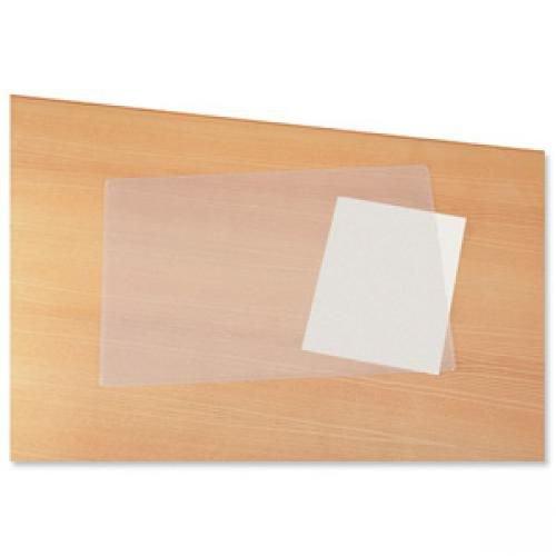Durable Duraglas Desk Mat Transparent Anti-glare W650xD500mm