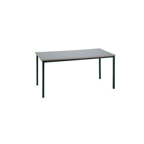 Essential Classroom Rectangular Table 1200x600mm Black Frame Non Stacking with MDF Edge Tops