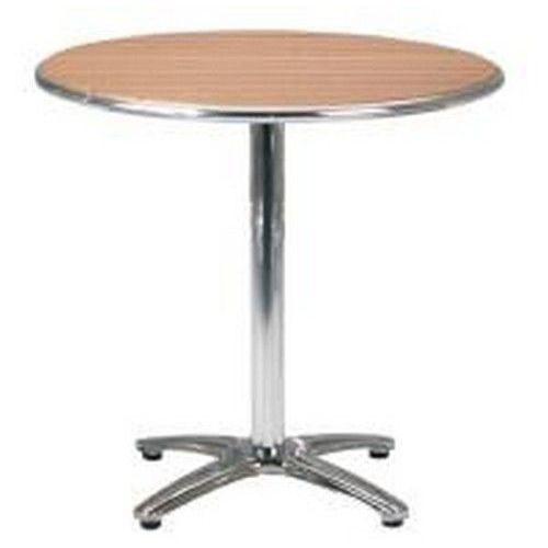 "Paulo Cafe Circular Pedestal Table ""No Wood"" Surfaces with Aluminium Frame Self Assembly Required"