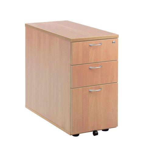 Jemini Beech 800mm 3 Drawer Desk High Pedestal KF72072