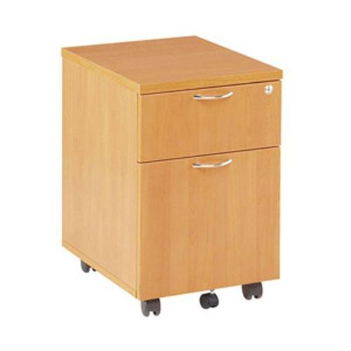 Jemini Oak 2 Drawer Mobile Pedestal KF72082
