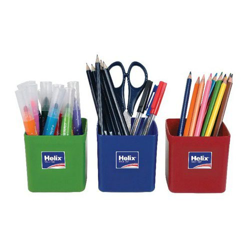 Helix Pencil Pots Assorted Pack 12