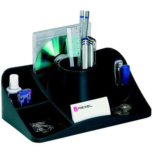 Rexel Agenda2 Desk Tidy 286x153x92mm Charcoal