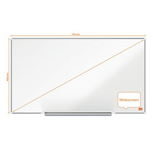 Nobo Impression Pro Widescreen Enamel Magnetic Whiteboard 710x400mm White