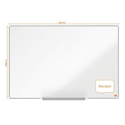 Nobo Impression Pro Enamel Magnetic Whiteboard 900x600mm White