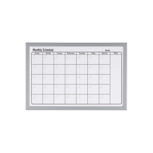 Bi- Silque All Purpose Planner Gridded 900 X 600 New Generation Frame Magnetic Dry Wipe Board