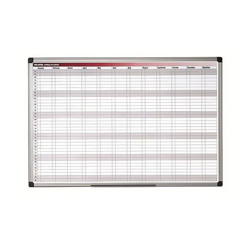 Bi- Silque All Purpose Planner Gridded 1800 X 1200 New Generation Frame Magnetic Dry Wipe Board