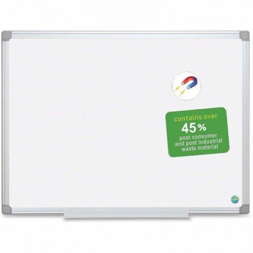 Bi-Office Magnetic Whiteboard Earth; Aluminium Frame 120 x 90 cm