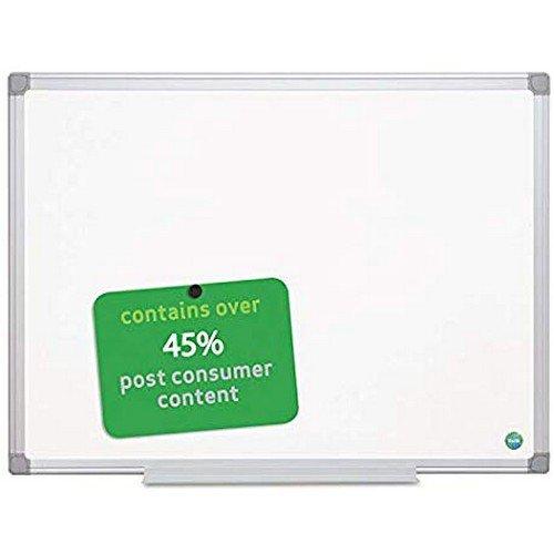 Bi-Office Magnetic Whiteboard Earth; Aluminium Frame 180 x 120 cm