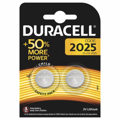 Duracell 2025 Lithium Coin Battery 3V Pack of 4