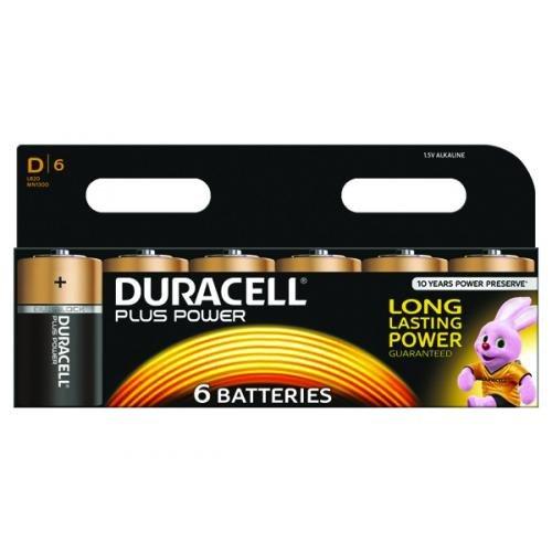 Duracell Standard Alkaline D Size Batteries Pack 6