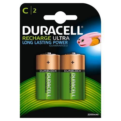 Duracell Rechargeable D Batteries Pack 2 Rechargeable Batteries EA6821
