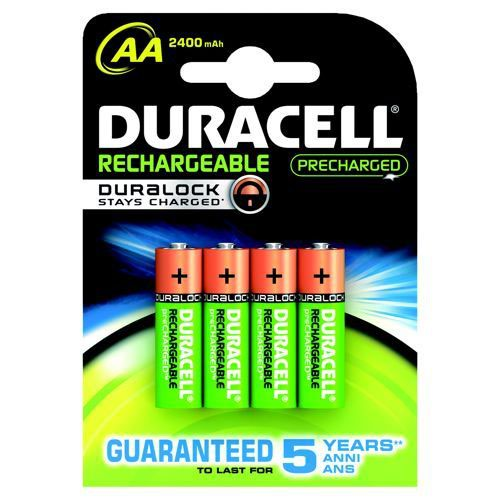 Duracell AA Stay Charge Batteries Pack 4