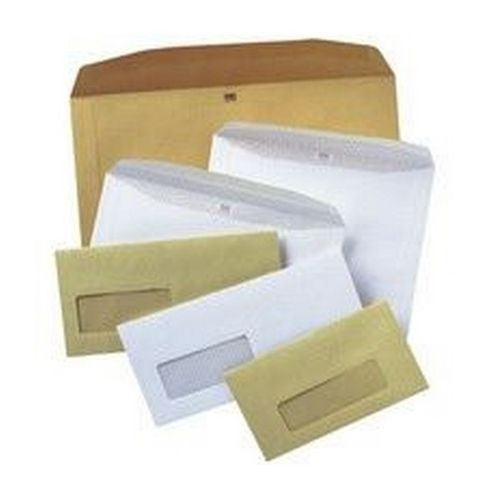 Autofil Envelope White Wove 90gm 121x235mm Gummed Flapped Window 20Up 20Lhs Boxed 500