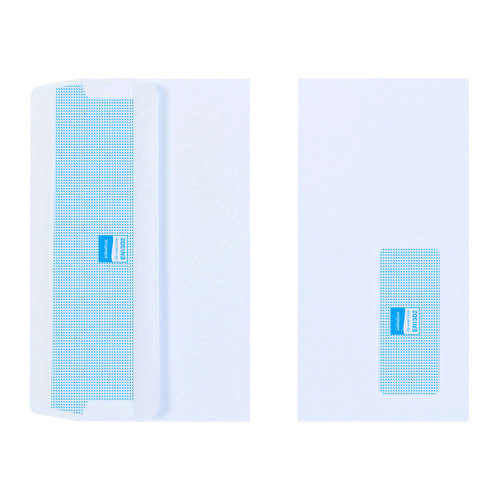 Initiative Envelope DL Self Seal Window 110gsm White Pack 1000