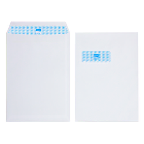 Initiative Envelope Pocket C4 Self Seal 90g White Window Pack 250