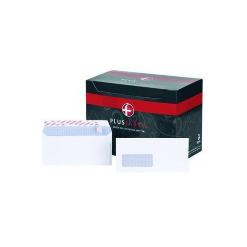 Plus Fabric DL Window Envelopes 110gsm Peel and Seal White (Pack of 500) B22170