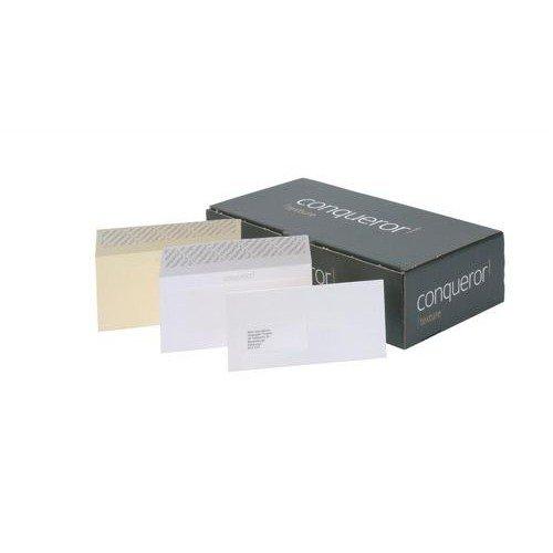 Conqueror Wove Vellum DL Envelope FSC4 110X220mm Super/Seal Bnd 50 Box 500