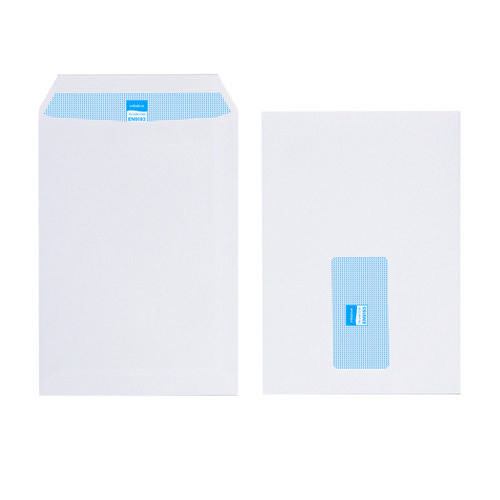 Initiative Envelope C5 Self Seal Window 100gsm White Pack 500