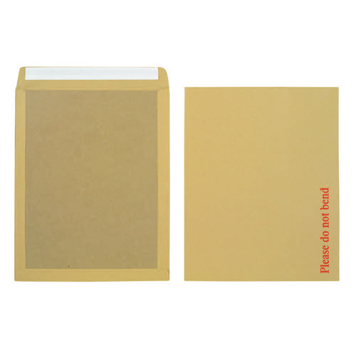 Initiative Envelope Boardbacked Peel n Seal 15.5 x 12.5 inches 115gsm Manilla Pack 50