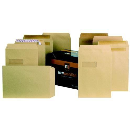 New Guardian Envelope C4 Press n Seal Pocket 324x229mm 130gsm Manilla Pack 250