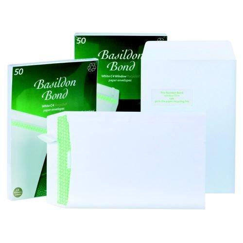 Basildon Bond Envelope C4 Shrinkwrap White 120gsm Pack 50