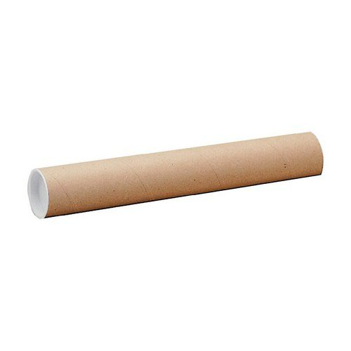 Postal Tube A2 50mm 460mm Long + End Plugs 1.5mm Wall Pack 25