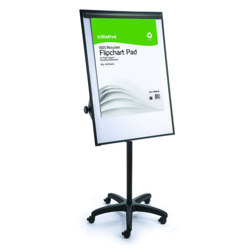 Initiative Mobile Magnetic Height Adjustable Flipchart Whiteboard & Easel 700 x 1000mm