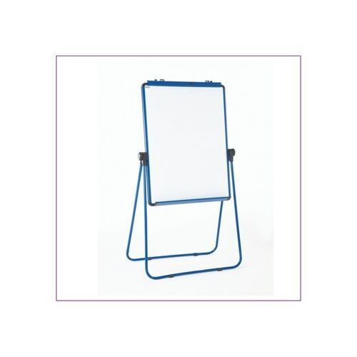 Adboards Excellence Height Adjustable Magnetic Flip Chart Blue