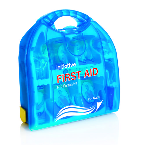 Initiative First Aid Dispenser 10 Person HSE Compliant 270mm x 102mm x 290mm