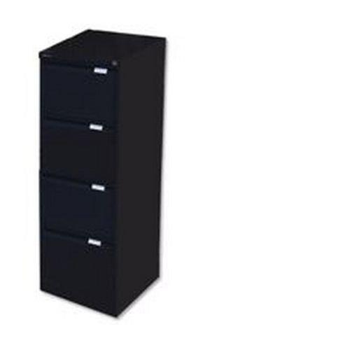 Bisley 4 Drawer Filing Cabinet Flush Fronted Black BS4E BLACK