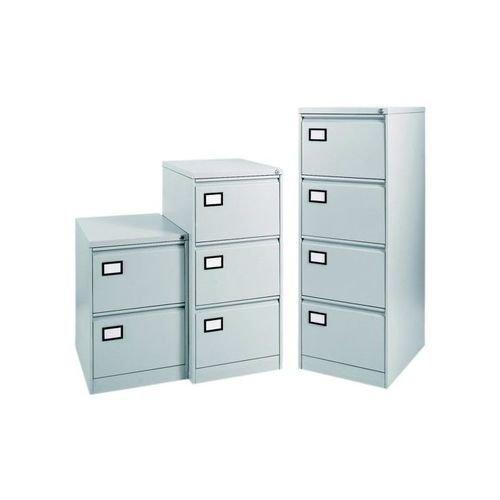 reputable site 61249 21f76 Triumph Trilogy 4 Drawer Foolscap Filing Cabinet W470 x D622 x 1321mm Pearl  Grey