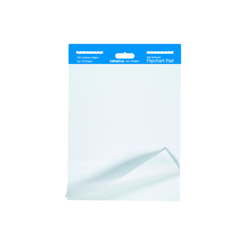 Initiative Self-Adhesive Extra Sticky Flipchart Pad A1 30 Sheets 80gsm Pk2