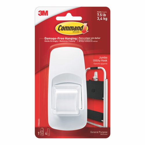 3M Command Jumbo Hook with Command Strips