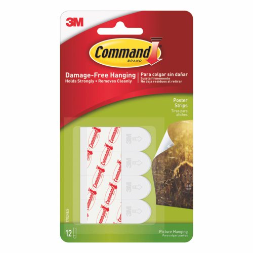 3M Command Poster Strips Pack 12