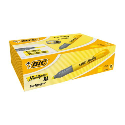 Bic Briteliner Grip XL Highlighter Yellow