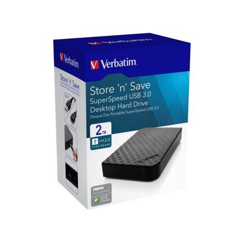 Verbatim Store N Save 2Tb Desktop Hard Drive