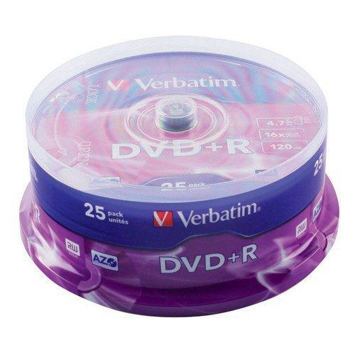 Verbatim DVD+R AZO Pack 25 Spindle
