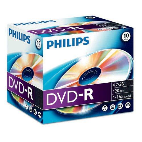 Philips DVD-R 4.7GB 16x Jewel Case 10 Disks