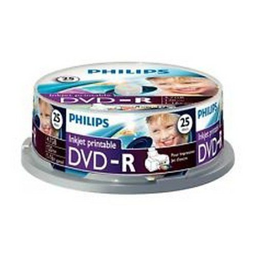 Philips DVD-R 4.7GB 16x Spindle 25 Disks