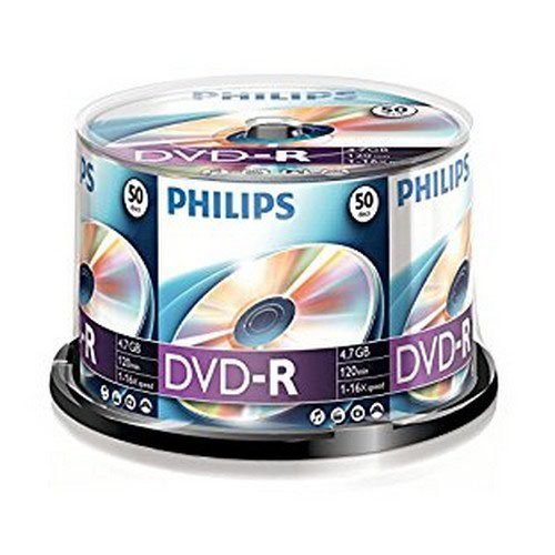 Philips DVD-R 4.7GB 16x Spindle 50 Disks